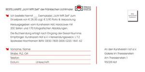 """Bestellschein für """"Licht trifft Zeit"""""""